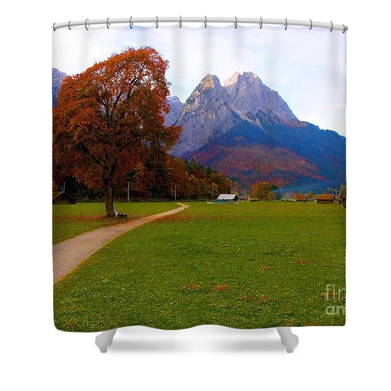 Landscape Shower Curtain featuring the photograph Solitude by Randy Matthews