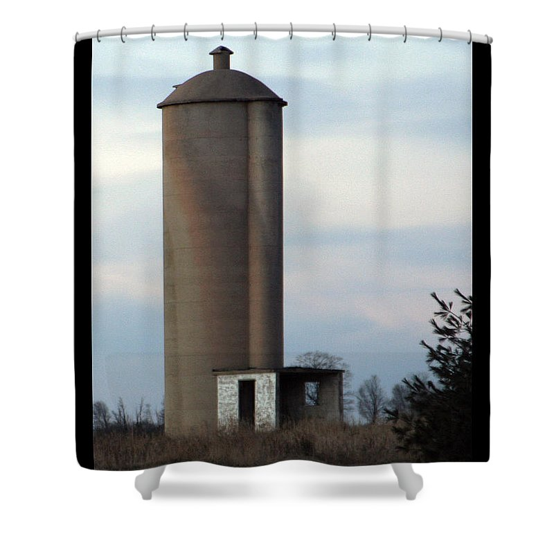 Silo Shower Curtain featuring the photograph Solo Silo by Tim Nyberg
