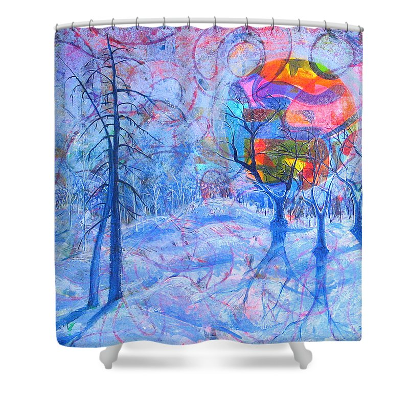 Winter Shower Curtain featuring the painting Solstice by Rollin Kocsis