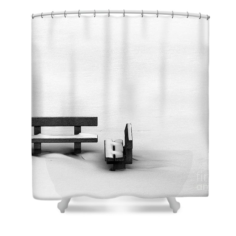 Black Shower Curtain featuring the photograph Someone To Hear You When You Sigh by Dana DiPasquale