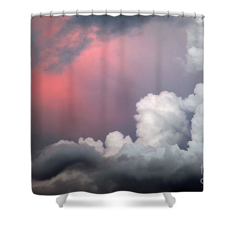 Cloud Shower Curtain featuring the photograph Something In The Clouds by Amanda Barcon