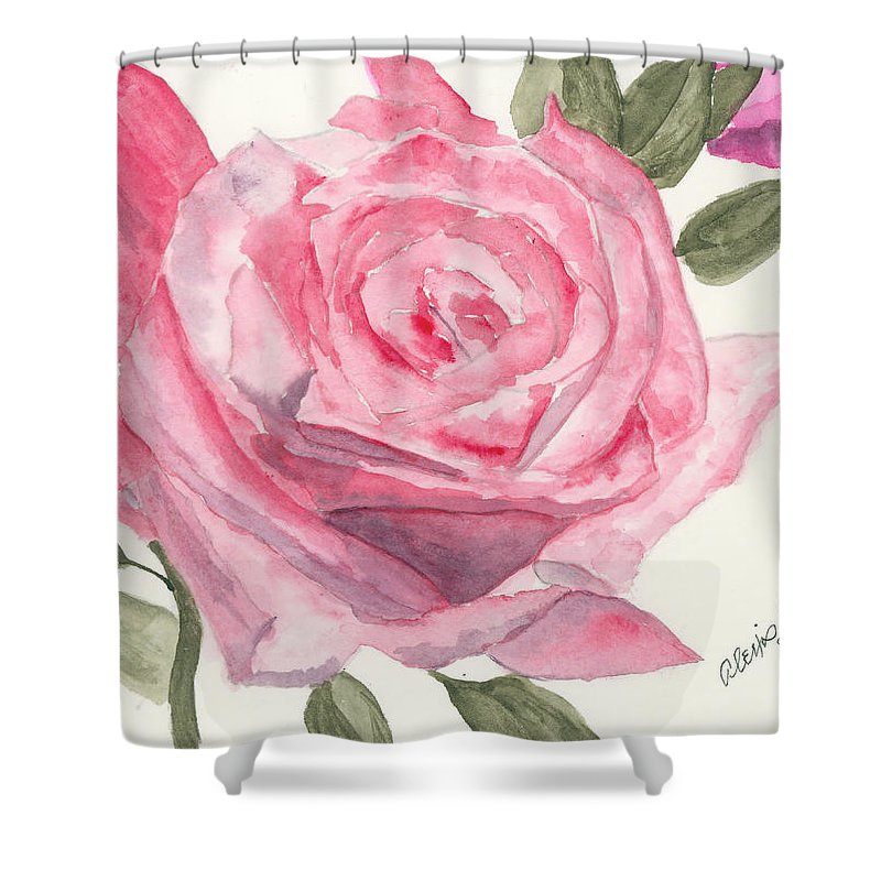 Rose Shower Curtain featuring the painting Something Real by Alexis Grone