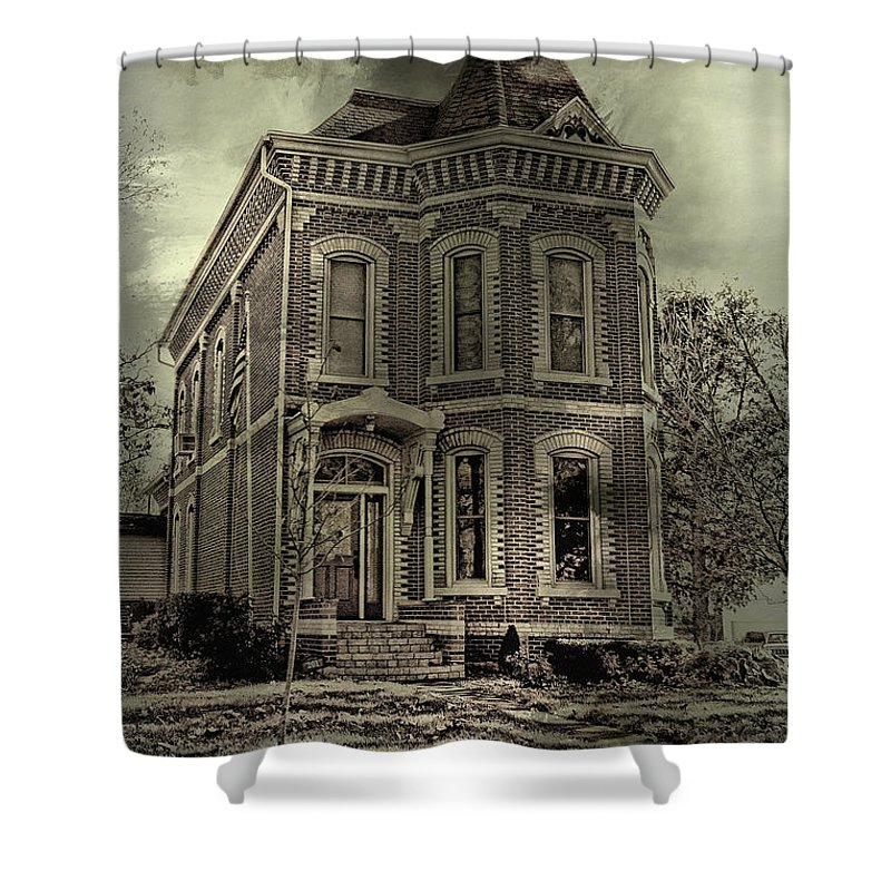 Haunted Shower Curtain featuring the photograph Something's Happening Here by Theresa Campbell