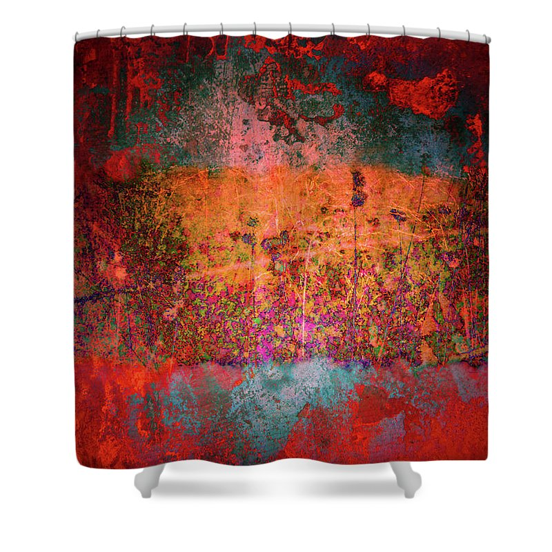 Texture Shower Curtain featuring the digital art Sometime In The Beginning by Tara Turner
