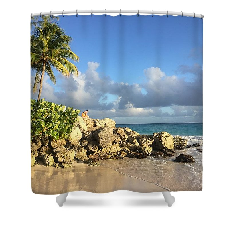 Caribbean Shower Curtain featuring the photograph Somewhere in Barbados by Cindy Ross