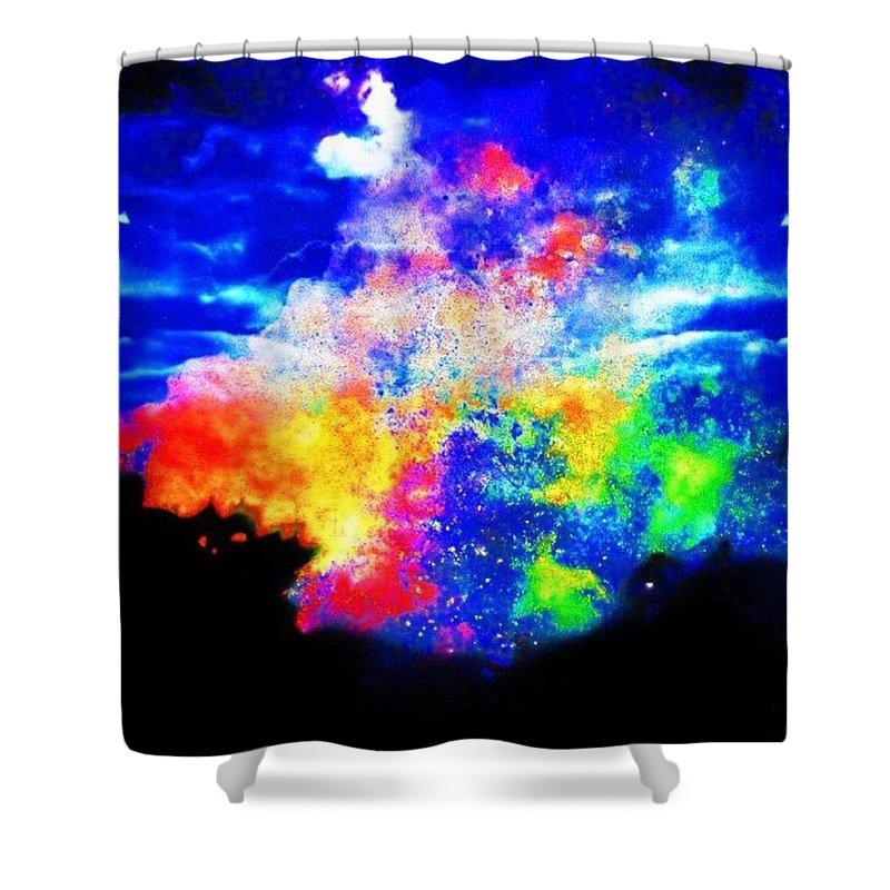 Treeobsession Shower Curtain featuring the photograph Somewhere Over The Rainbow by Nick Heap