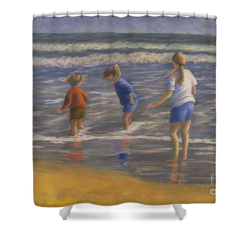 Beach Shower Curtain featuring the painting Song Of Praise by Mary Erbert