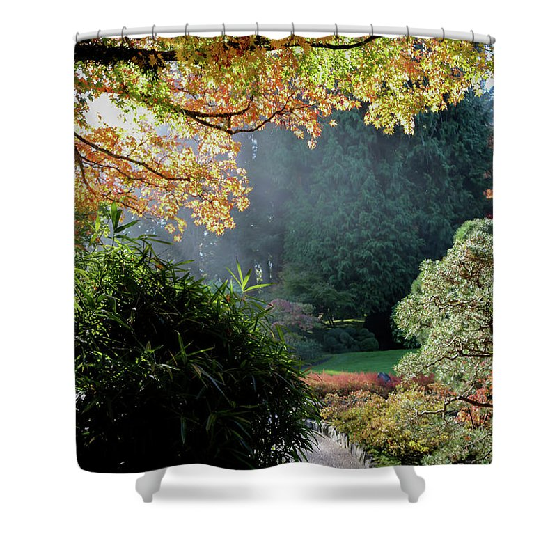 Outdoor Shower Curtain featuring the photograph Song Of The Light 1. by Andrew Kim