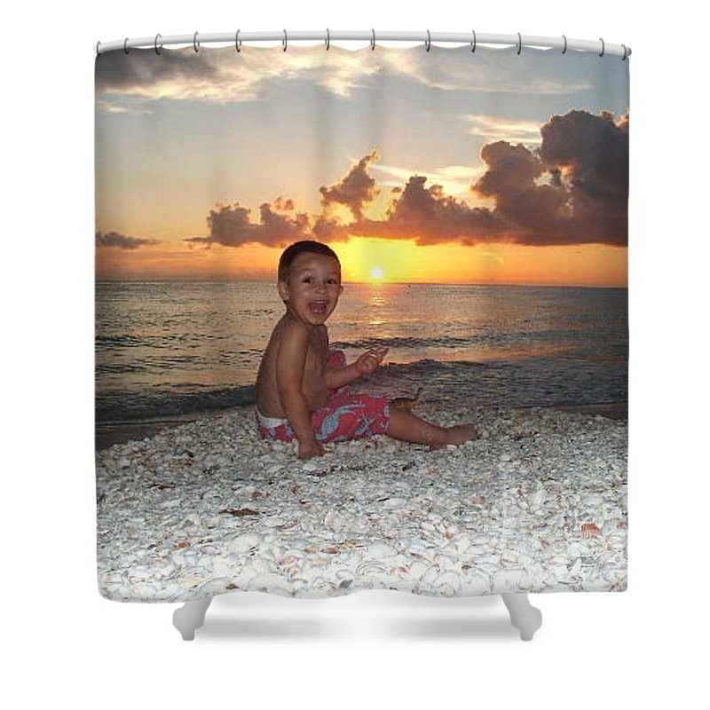 Sunset Shower Curtain featuring the photograph Sonsun by Michelle S White