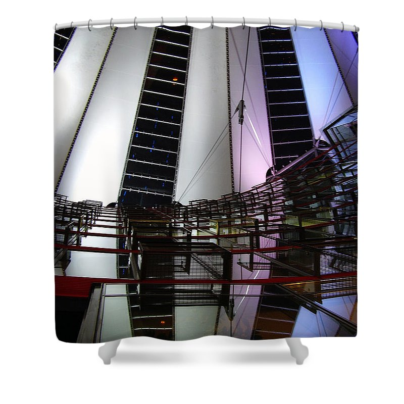 Sony Center Shower Curtain featuring the photograph Sony Center II by Flavia Westerwelle