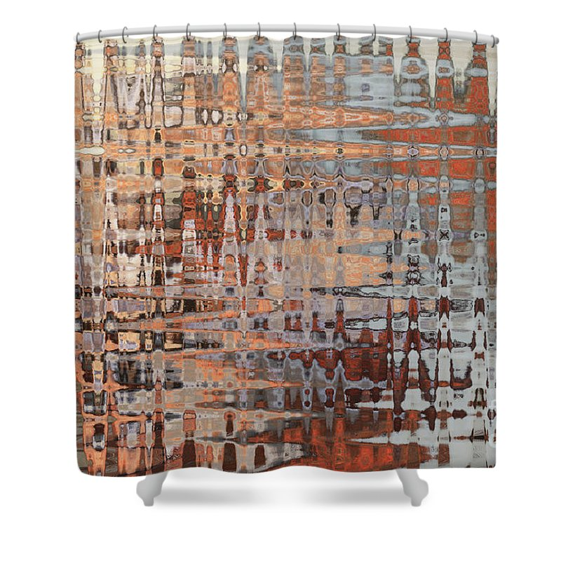 Sophisticated - Abstract Art Shower Curtain for Sale by Carol Groenen