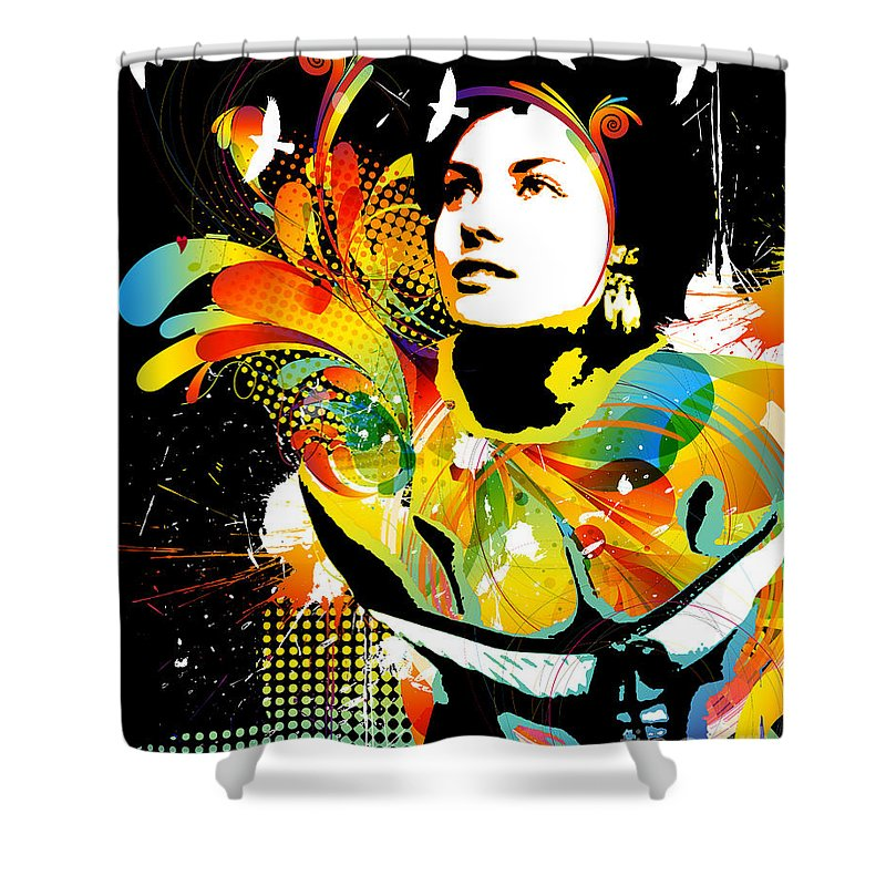 Abstract Nude Shower Curtains