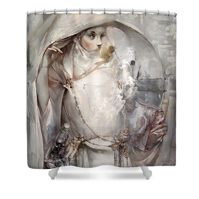 Soul Shower Curtain featuring the digital art Soul by Te Hu