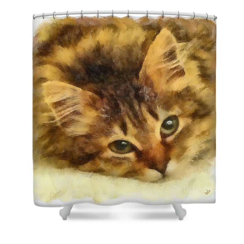 Cat Shower Curtain featuring the photograph Soulful Eyes by Betsy Foster Breen