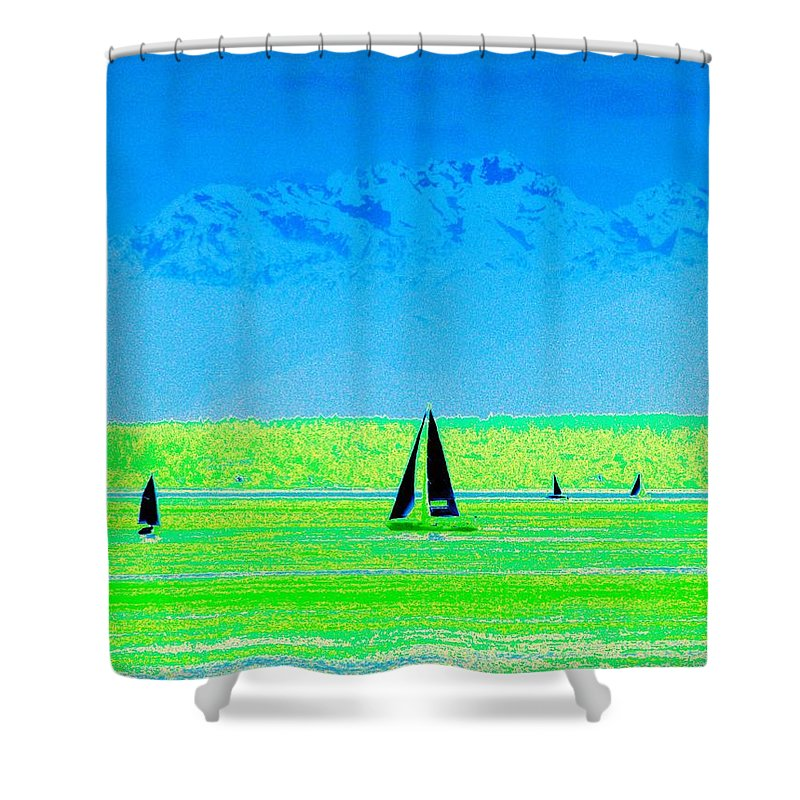 Sail Shower Curtain featuring the photograph Sound Sailin by Tim Allen