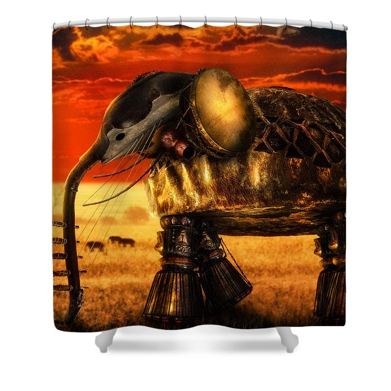 Music Shower Curtain featuring the digital art Sounds Of Cultures by Alessandro Della Pietra