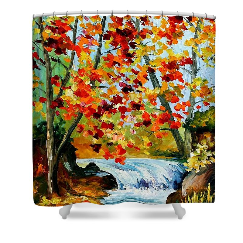 Afremov Shower Curtain featuring the painting Source by Leonid Afremov