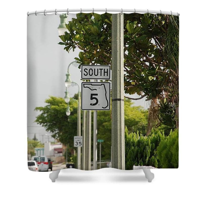 South Shower Curtain featuring the photograph South Florida 5 by Rob Hans