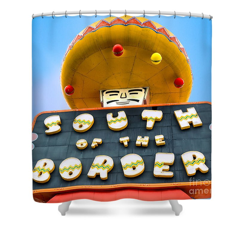 Border Shower Curtain featuring the photograph South Of The Border by Jerry Fornarotto