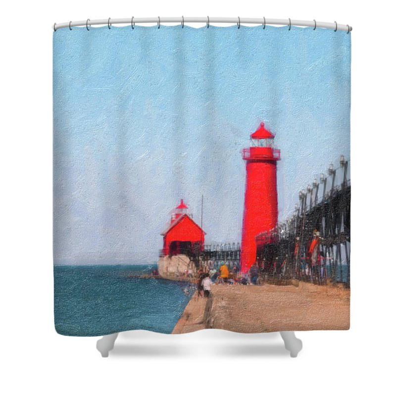 South Haven Lighthouse Shower Curtains | Fine Art America