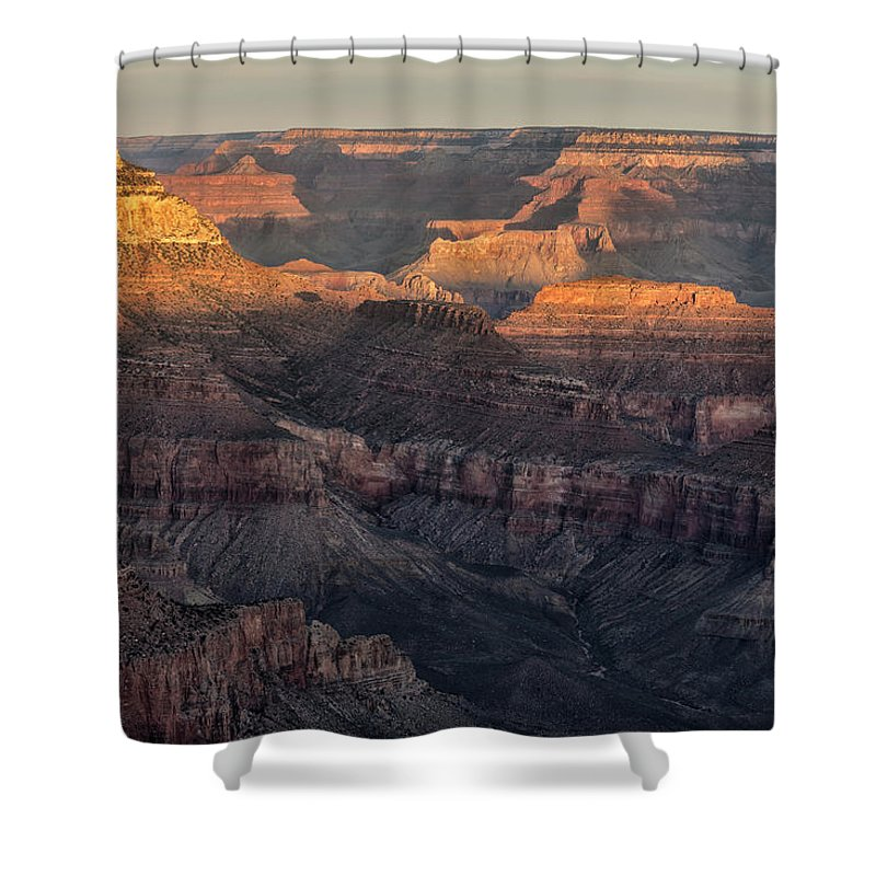 South Rim Sunrise Grand Canyon National Park Arizona Az Shower Curtain featuring the photograph South Rim Sunrise - Grand Canyon National Park - Arizona by Brian Harig