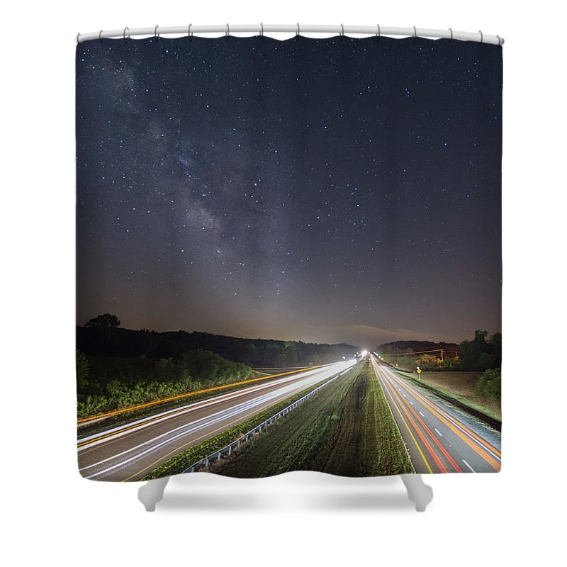 Shower Curtain featuring the photograph Southbound by Steve Hammer