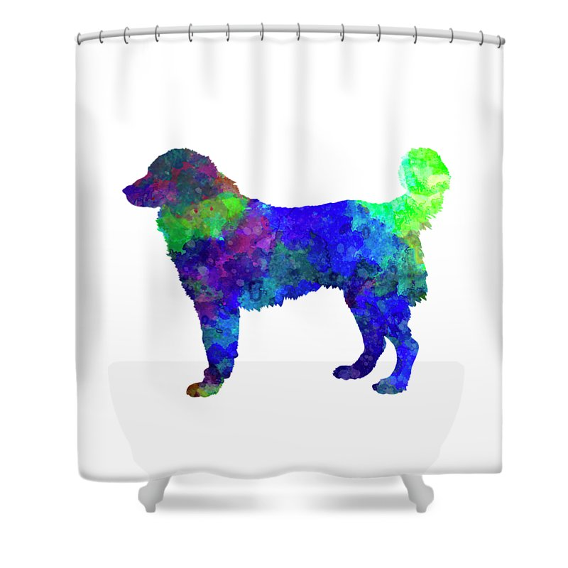 Southeastern Shower Curtain featuring the painting Southeastern European Shepherd In Watercolor by Pablo Romero