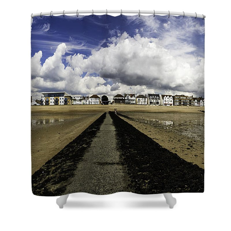 Southend On Sea Shower Curtain featuring the photograph Southend On Sea Panorama by Sheila Smart Fine Art Photography