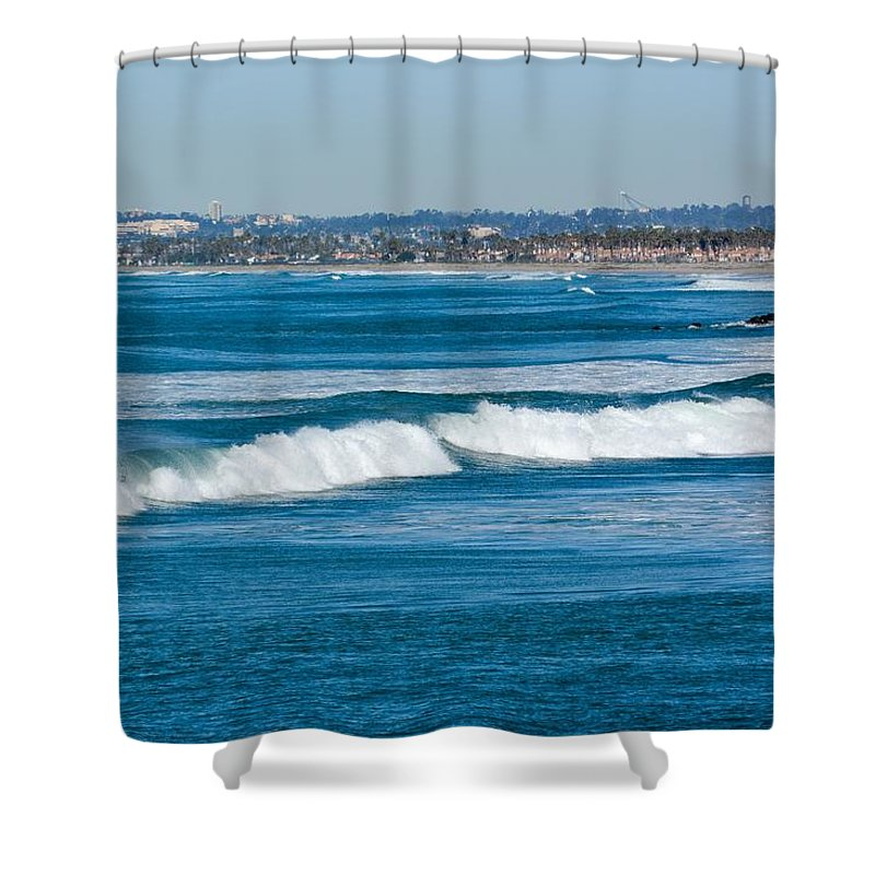 Waves Shower Curtain featuring the photograph Southern California Coast by Royal Tyler