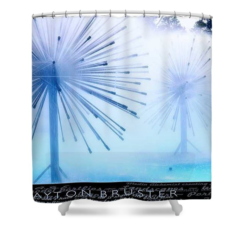 Clay Shower Curtain featuring the photograph Southern California Fountains by Clayton Bruster