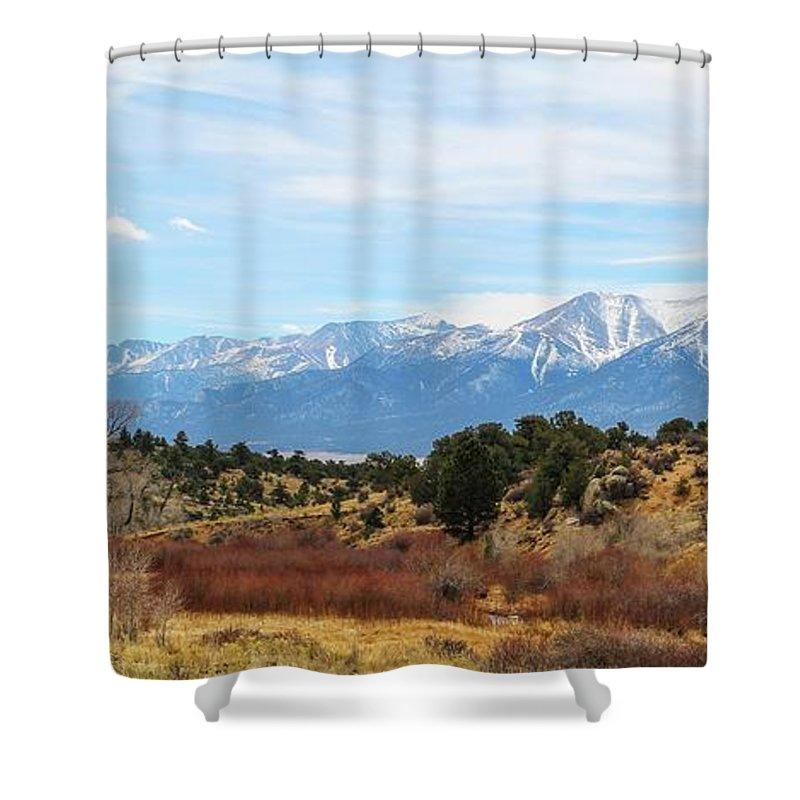 Sawatch Shower Curtain featuring the photograph Southern Sawatch Vista by Joseph Holub