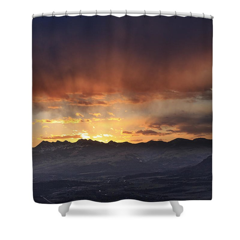 Colorado Shower Curtain featuring the photograph Southwest Colorado Sunset by John Zeising