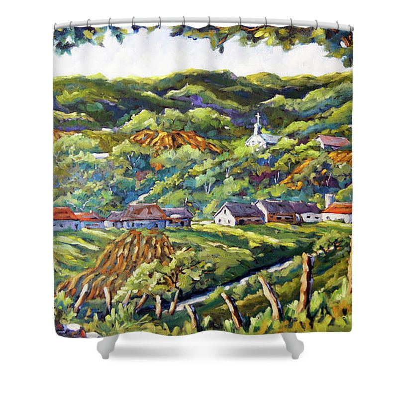 Art Shower Curtain featuring the painting Souvenir 04 By Prankearts by Richard T Pranke