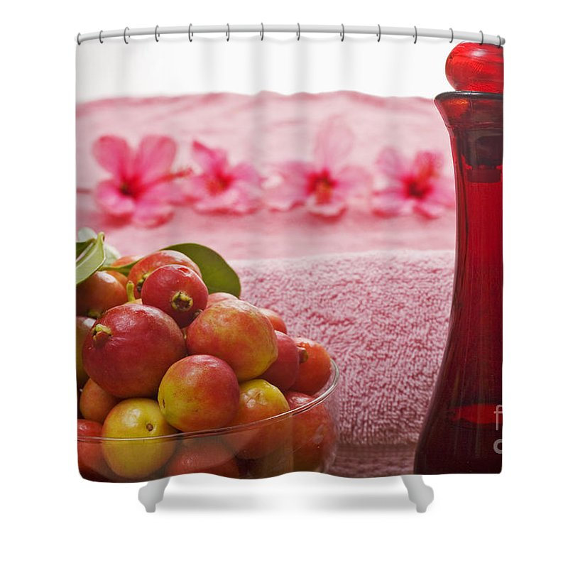Attractive Shower Curtain featuring the photograph Spa Elements by Tomas del Amo - Printscapes