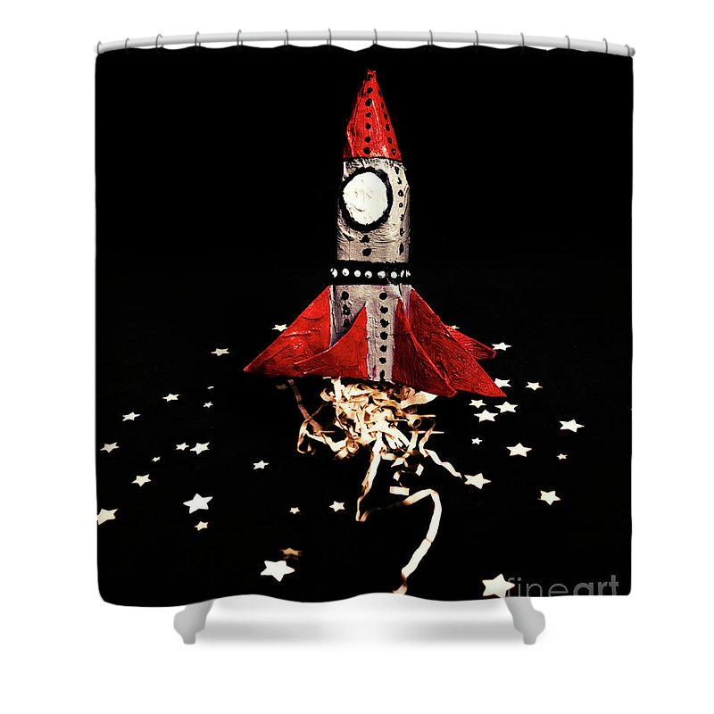 Space Vehicle Shower Curtains