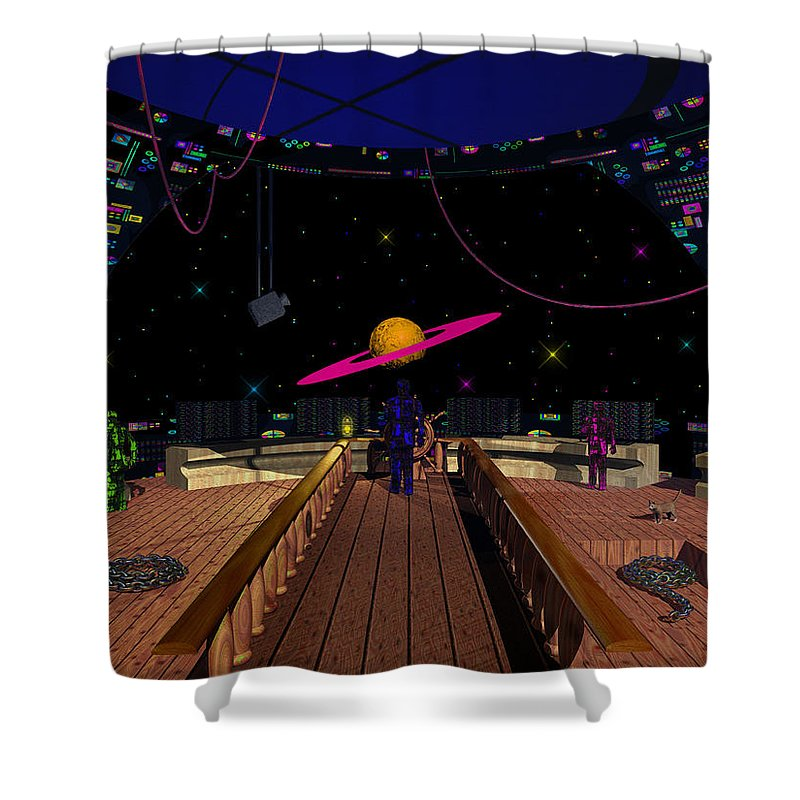 Space Shower Curtain featuring the photograph Space Voyagers by Mark Blauhoefer