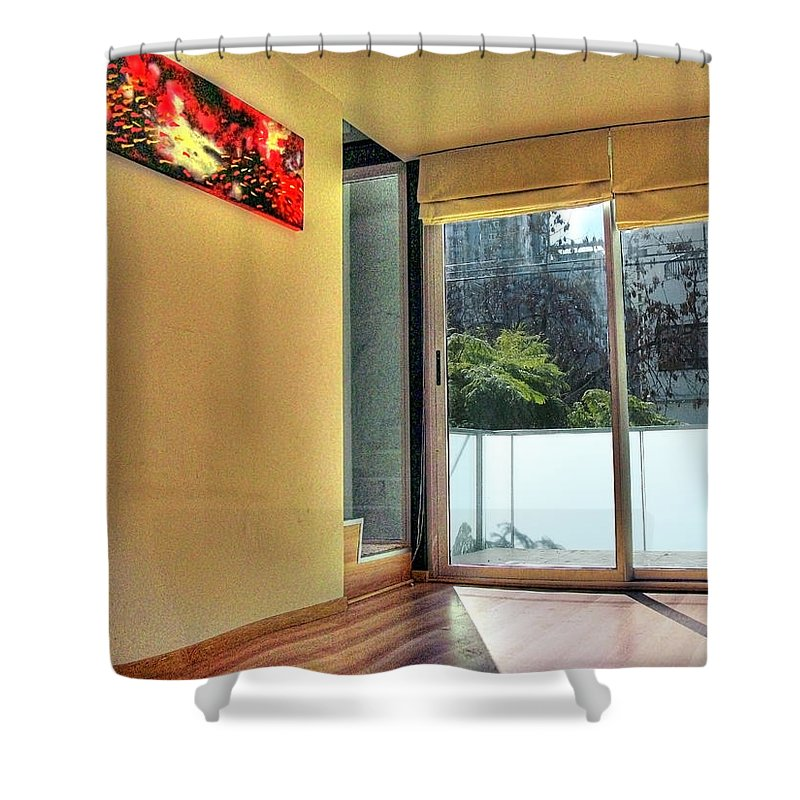 Wall Shower Curtain featuring the photograph Spaces by Francisco Colon