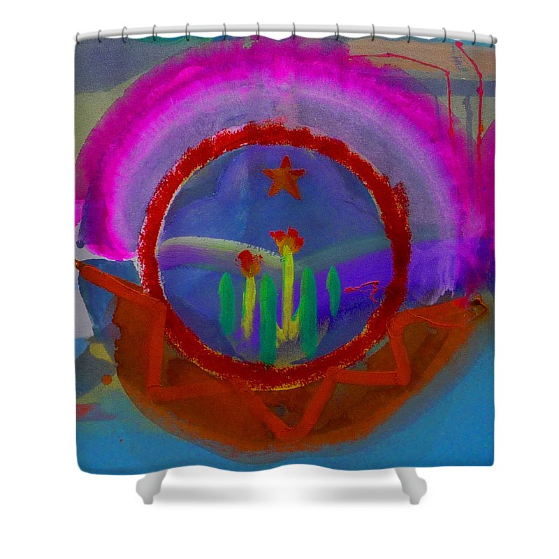 Love Shower Curtain featuring the painting Spanish America by Charles Stuart