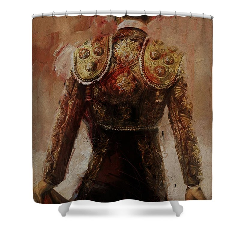 Spanish Shower Curtain Featuring The Painting Culture 2 By Corporate Art Task Force