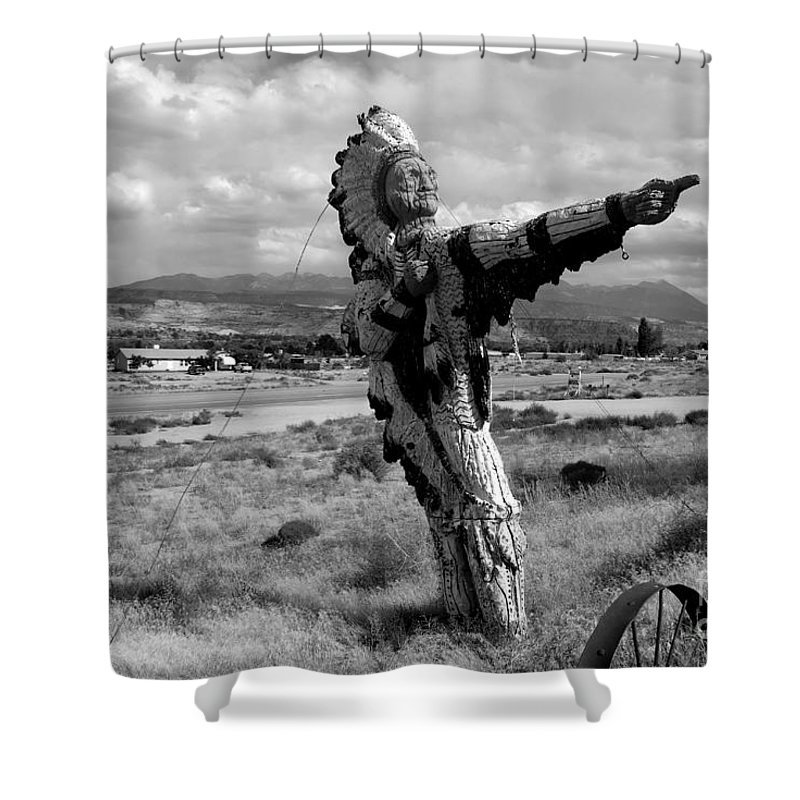 Moab Utah Shower Curtain featuring the photograph Spanish Valley Indian by David Lee Thompson