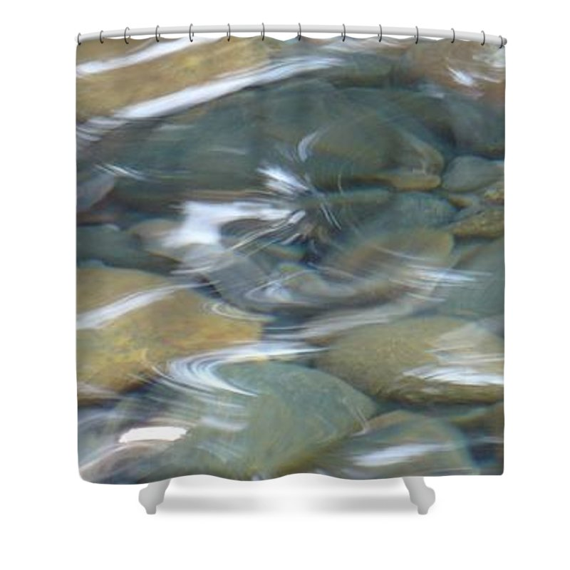 Sparkling Water Shower Curtain featuring the photograph Sparkling Water on Rocky Creek 1 by Carol Groenen