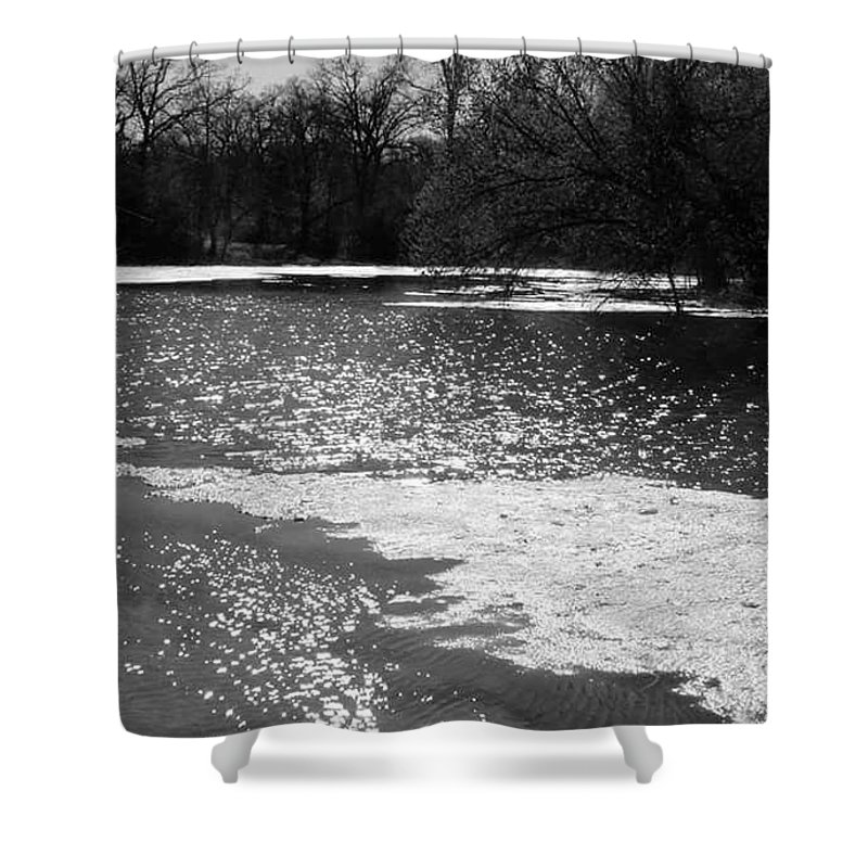 Shower Curtain featuring the photograph Sparkling Waters by Jeanna Tate