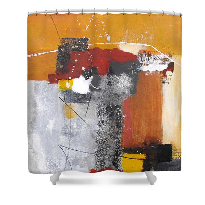 Abstract Shower Curtain featuring the painting Special Circumstances by Ruth Palmer