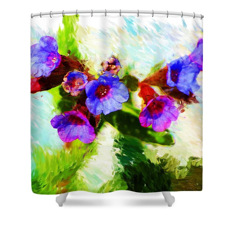 Abstract Shower Curtain featuring the photograph Speckled Trout The Flower by David Lane