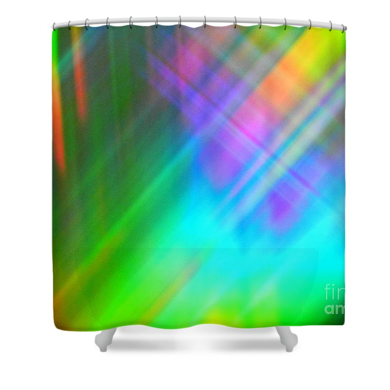 Abstract Shower Curtain featuring the photograph Spectra Wonder by Lilian F Norris