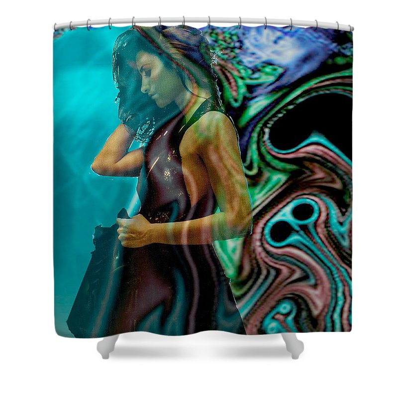 Beautiful Women Shower Curtain featuring the digital art Spell Of A Woman by Seth Weaver