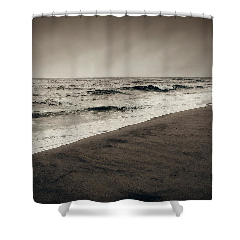 Ocean Shower Curtain featuring the photograph Spending My Days Escaping Memories by Dana DiPasquale