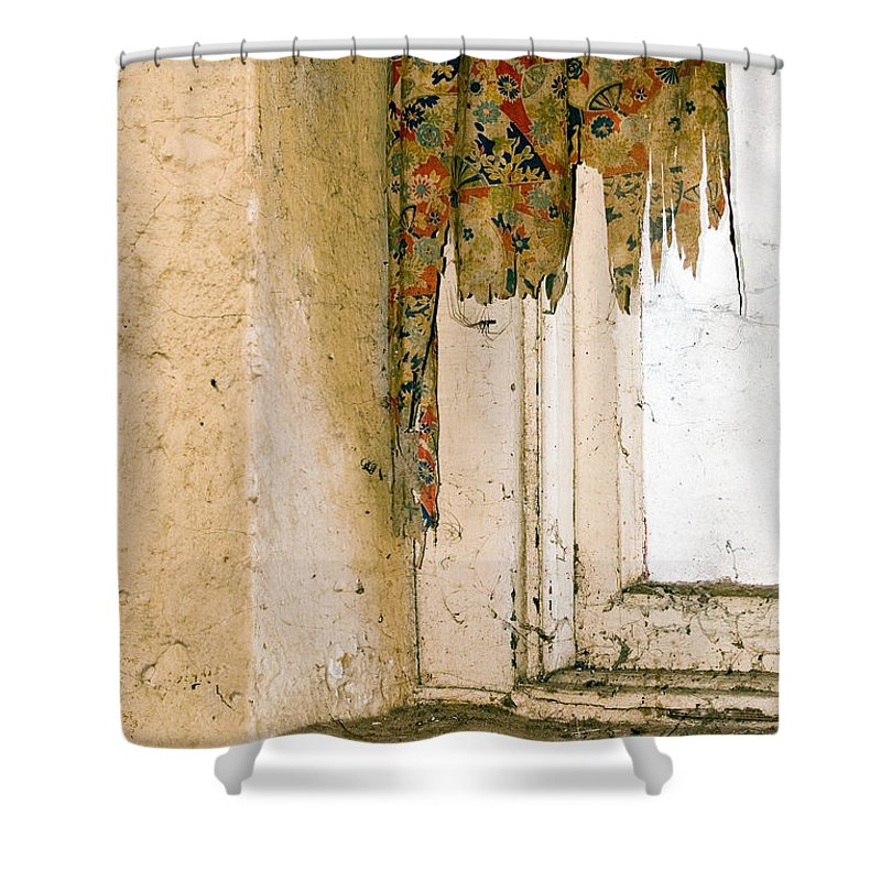 California History Shower Curtain featuring the photograph Spider Window by Norman Andrus