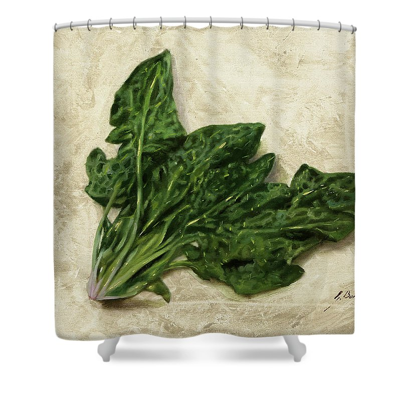 Spinach Shower Curtains