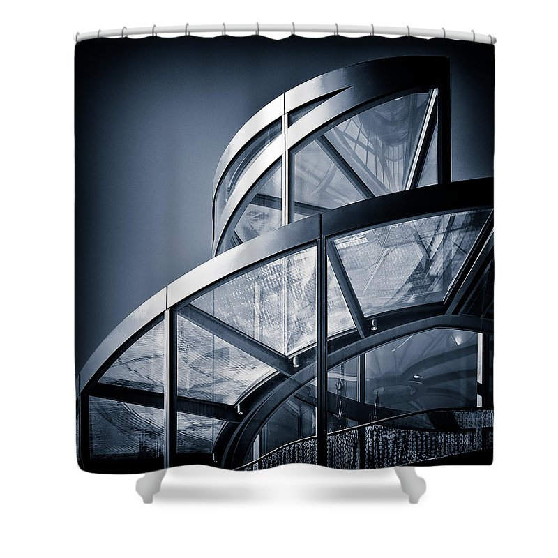 Spiral Shower Curtain featuring the photograph Spiral Staircase by Dave Bowman
